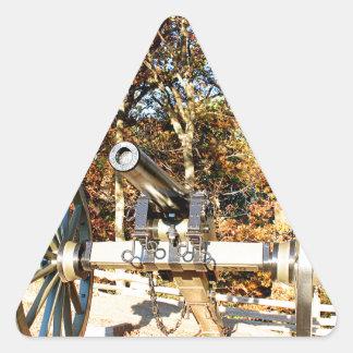 Civil War Cannon Triangle Sticker