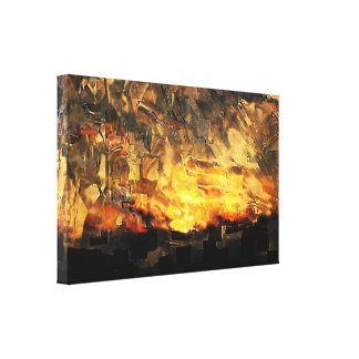 Civil War Dialog Canvas Print
