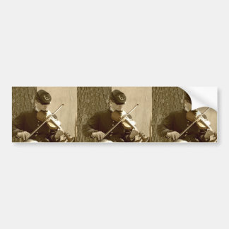 Civil War Fiddle Player Bumper Sticker