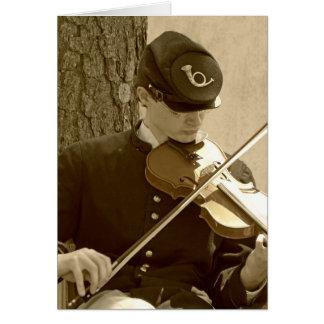 Civil War Fiddle Player Card