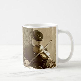 Civil War Fiddle Player Coffee Mug
