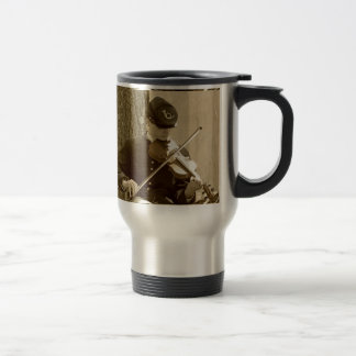 Civil War Fiddle Player Travel Mug
