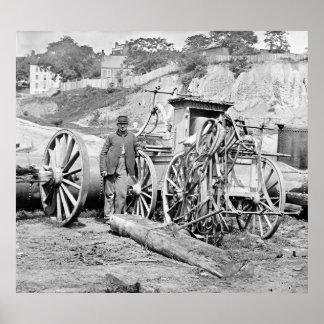 Civil War Fire Engine, 1865 Poster