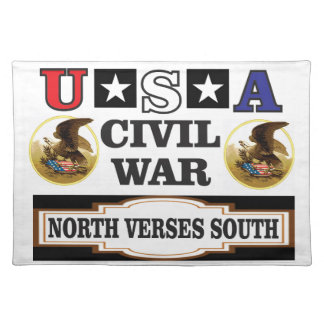 civil war fun art placemat