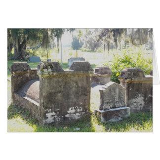 Civil War Graveyard Greeting Card with envelope