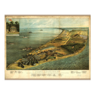 Civil War Hammond General Hospital and Prison 1864 Postcard