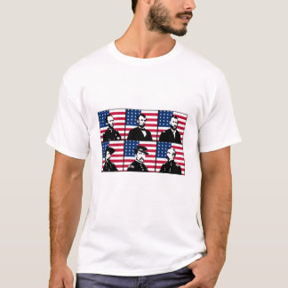 Civil War Heroes and The American Flag T-Shirt