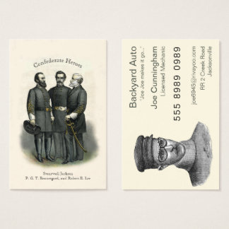 Civil War Heroes Auto Mechanic Car Repair Business Card