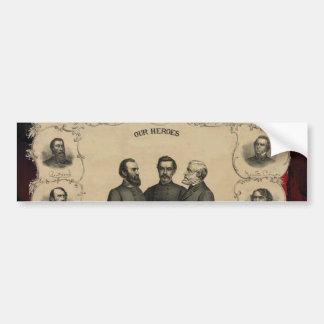 Civil War Heroes Bumper Sticker