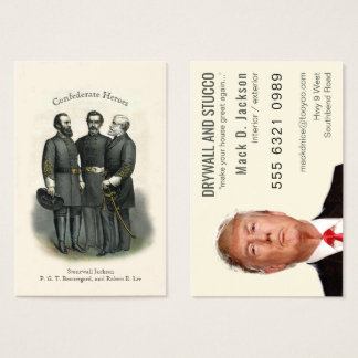 Civil War Heroes Drywall Stucco Painting Business Card