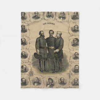 Civil War Heroes Fleece Blanket