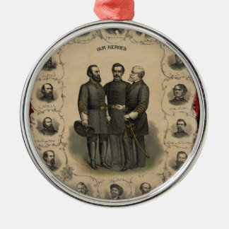 Civil War Heroes Metal Ornament