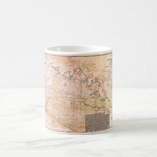 Civil War Map Battlefield of Chickamauga (1863) Coffee Mug