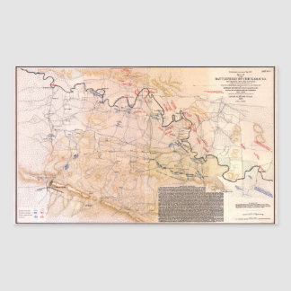 Civil War Map Battlefield of Chickamauga (1863) Sticker