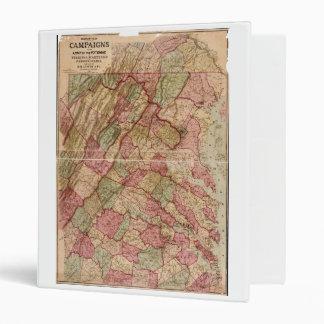 Civil War Military Map Potomac Campaign (1863) Binders