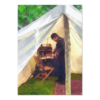 Civil War Officer's Tent Card