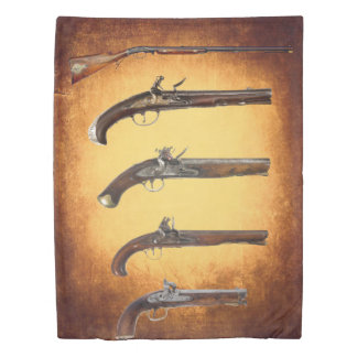 CIVIL WAR PISTOLS DUVET COVER