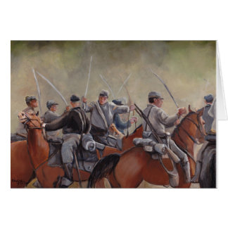 Civil War Re-enactment Battle Art Notecard