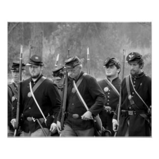 Civil War Reenactment - Union Soldiers Poster