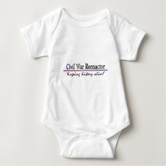 Civil War Reenactor Baby Bodysuit