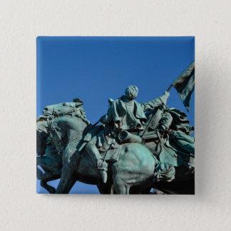 Civil War Soldier Statue in Washington DC_ 2 Inch Square Button