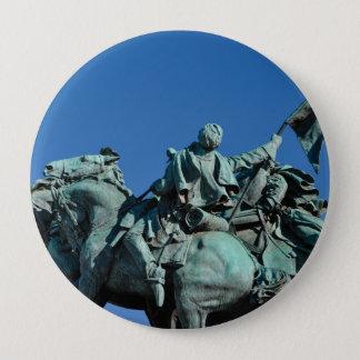 Civil War Soldier Statue in Washington DC_ 4 Inch Round Button