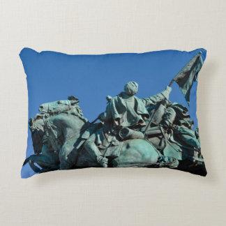 Civil War Soldier Statue in Washington DC_ Accent Pillow