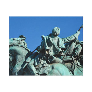 Civil War Soldier Statue in Washington DC_ Canvas Print