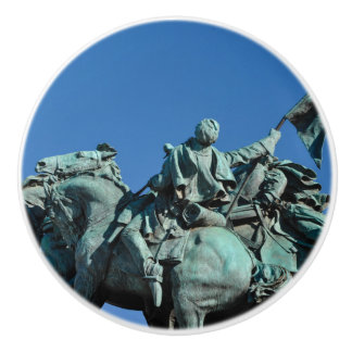 Civil War Soldier Statue in Washington DC_ Ceramic Knob