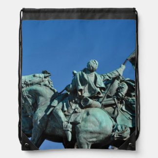 Civil War Soldier Statue in Washington DC_ Drawstring Bag