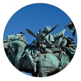 Civil War Soldier Statue in Washington DC_ Large Clock