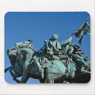 Civil War Soldier Statue in Washington DC_ Mouse Pad