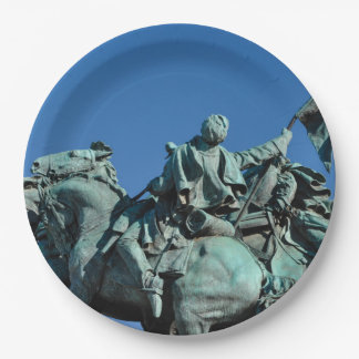 Civil War Soldier Statue in Washington DC_ Paper Plate