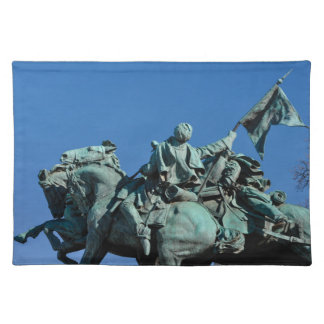 Civil War Soldier Statue in Washington DC_ Placemat