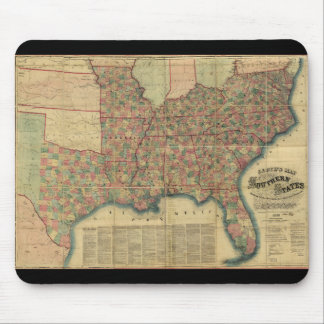 Civil War Southern States Map by J. Lloyd (1862) Mouse Pad