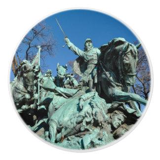 Civil War Statue in Washington DC Ceramic Knob