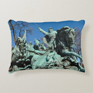 Civil War Statue in Washington DC Decorative Pillow
