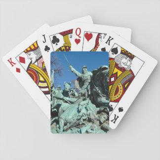 Civil War Statue in Washington DC Playing Cards