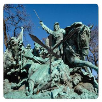 Civil War Statue in Washington DC Square Wall Clock