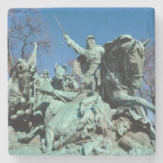 Civil War Statue in Washington DC Stone Coaster