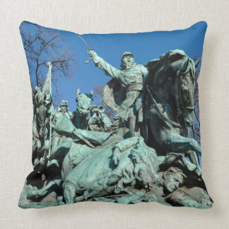 Civil War Statue in Washington DC Throw Pillow