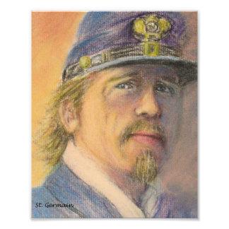 Civil War Union Soldier Officer Photo Print