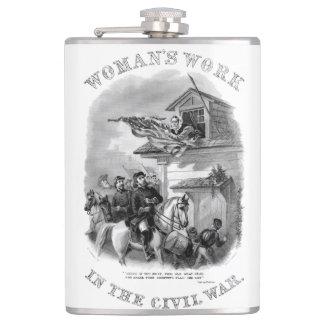 Civil War - Womans Work - Barbara Frietchie Hip Flask