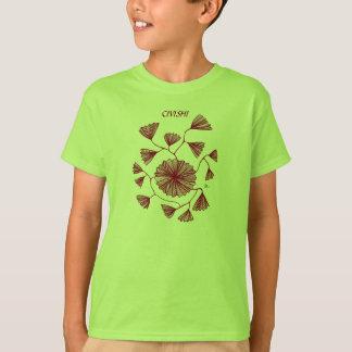 Civishi #123 Red, Abstract Sea Fan T-Shirt
