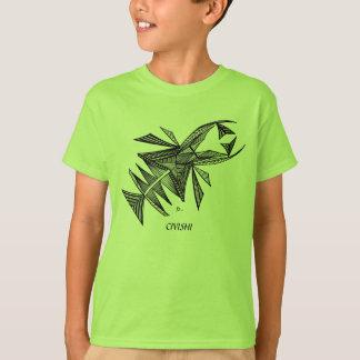 Civishi Design #218 Black Abstract Sea Creature T-Shirt