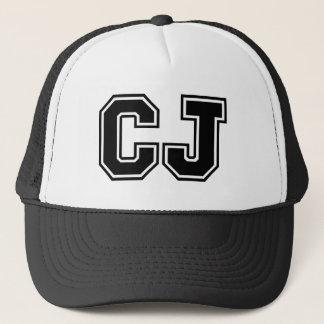 'CJ' Monogram Trucker Hat
