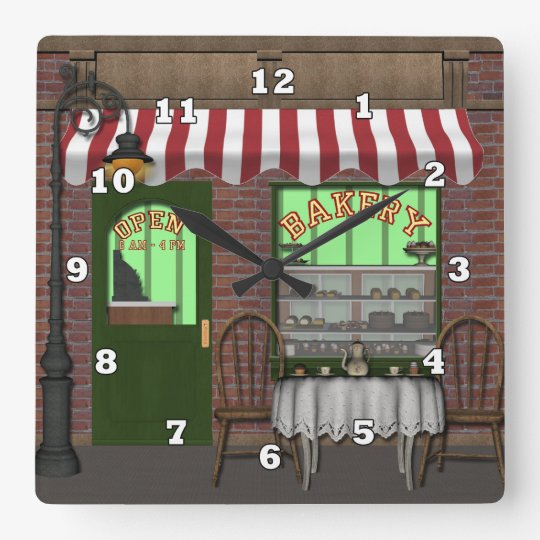 Cj's Dreams Bakery clock with numbers