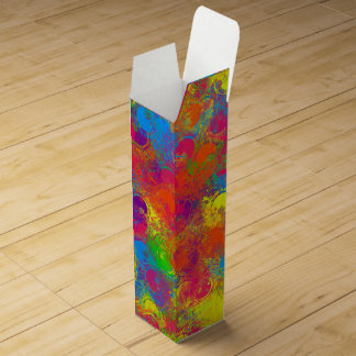 CKC Paint Can Florals-WINE GIFT BOX Wine Box