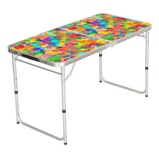 CKC Party Dots-Tailgate Ping Pong Table