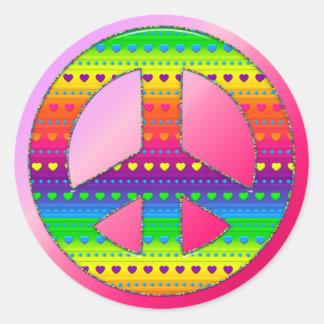 CKC-Peace Symbol 08-Round Stickers/Seals Classic Round Sticker